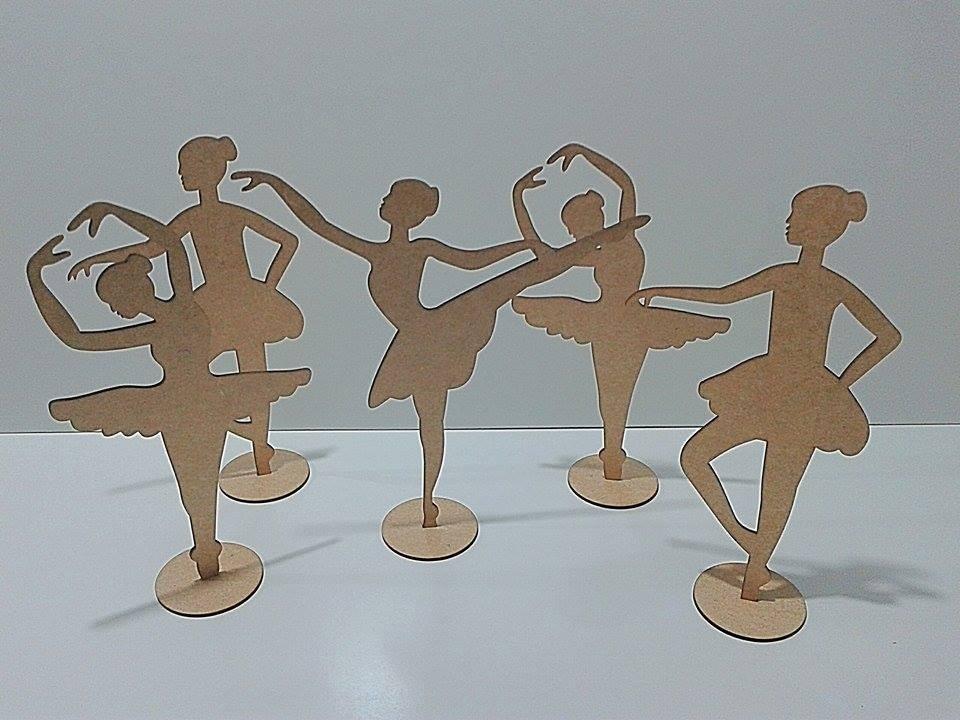 ef80d60051 kit bailarina mdf 20 peças + 5 sapatilhas em mdf cru festas. Carregando  zoom.