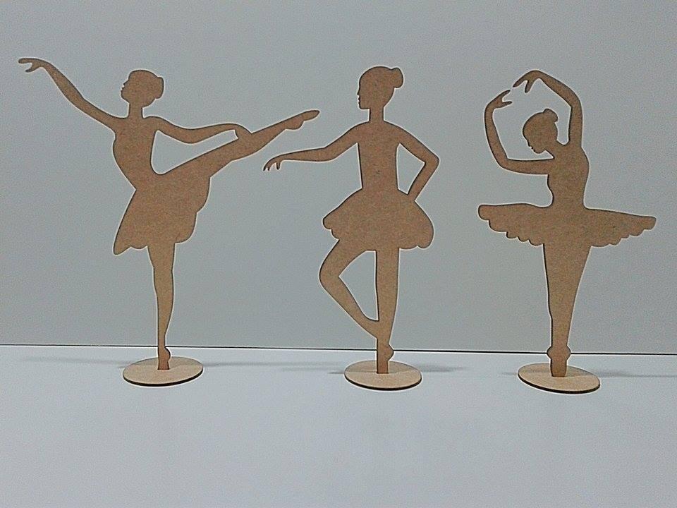 19ac91ca64 kit bailarina mdf 30 peças decoração festas e lembrancinhas. Carregando  zoom.