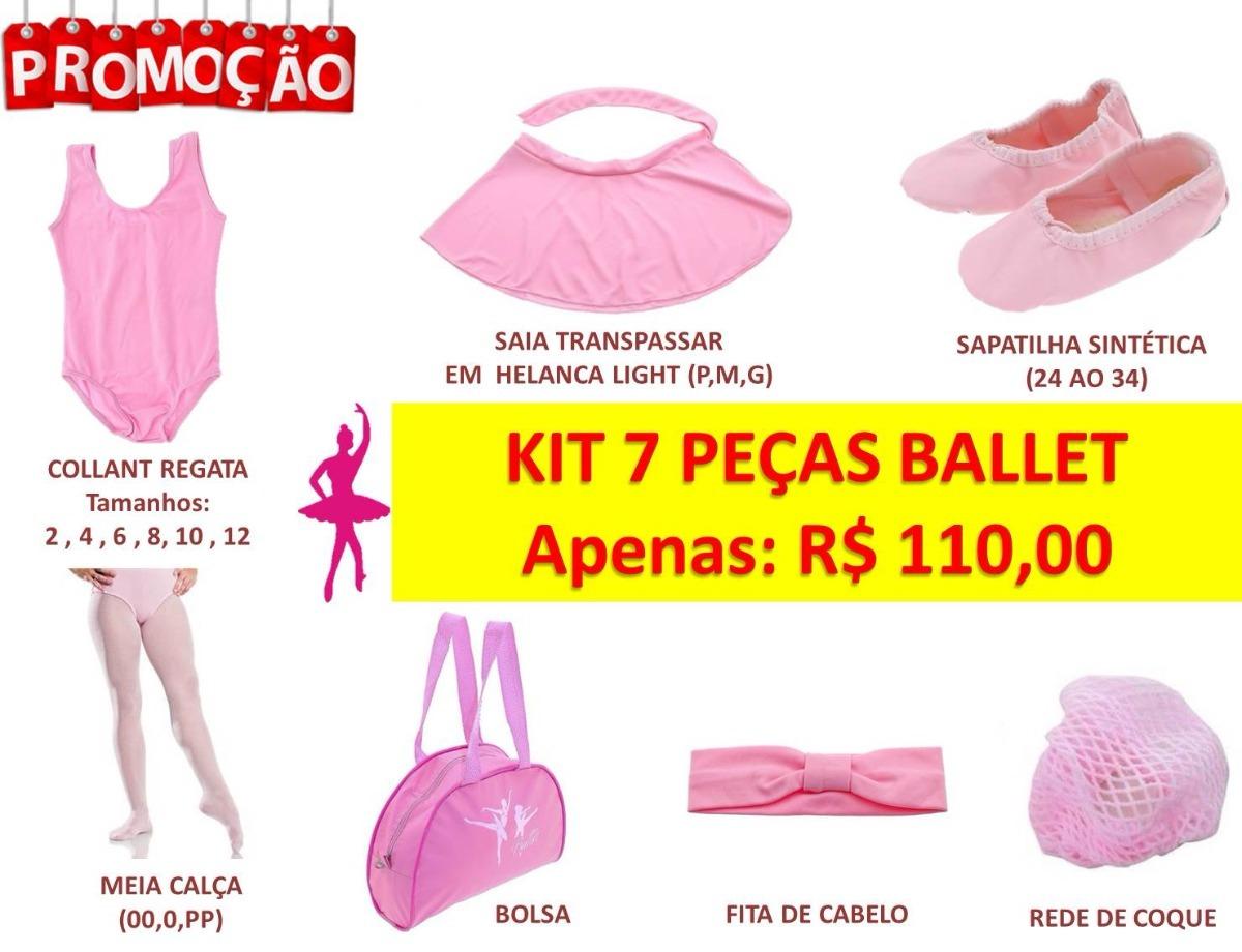 fc1fedc85a Kit Ballet Infantil 7 Peças - Collant
