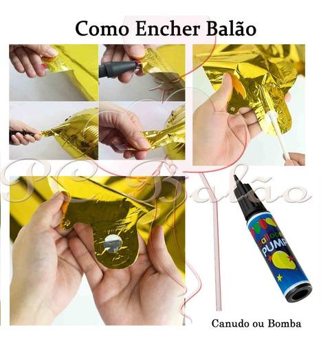 kit balão metalizado cauda / rabo de sereia festa