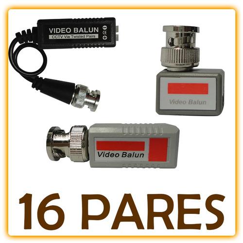 kit balun transceptor video y corriente utp cctv camaras