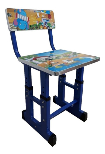 kit bancada didatica infantil mesa estudo crianças azul luxo