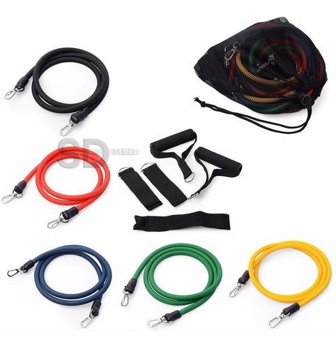 kit bandas calidad elásticas resistencia 11 piezas
