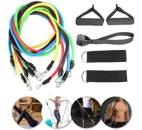 kit bandas de resistencia gym fitness portátiles
