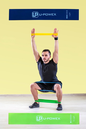 kit bandas de resistencia latex ejercicio yoga fisioterapia