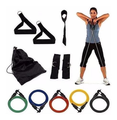 kit bandas elástica resistencia entrenamiento 11 piezas