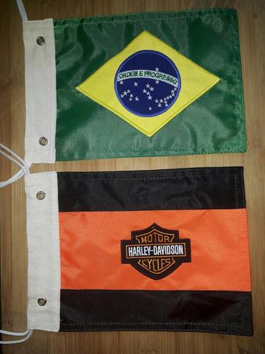 kit bandeira do brasil,santa catarina e harley davidson .