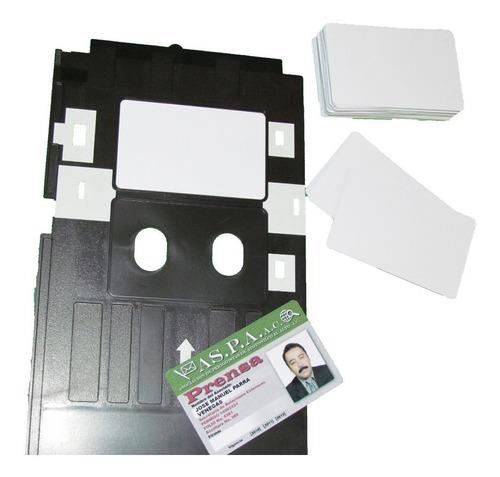 kit bandeja epson l805 y 100 credenciales pvc, tarjetas