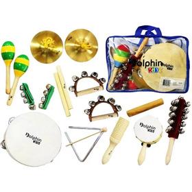 Kit Bandinha Dolphin C/10 Instrumentos Infantis C/bolsa 8458