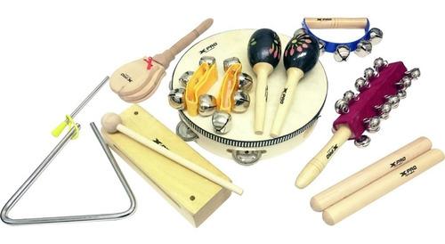 kit bandinha rítmica 9 instrumentos lt9 xpro