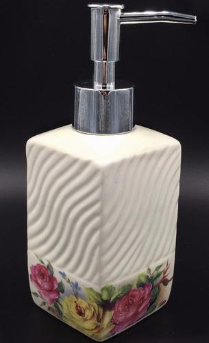 kit banheiro 3pç porta sabonete e escova porcelana