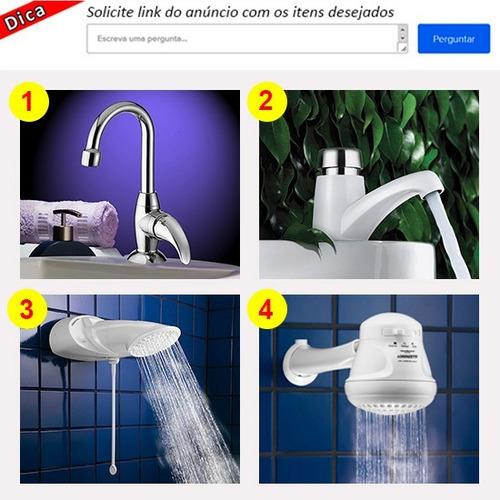 kit banheiro 6 peças cromadas fortti lorenzetti frete grátis