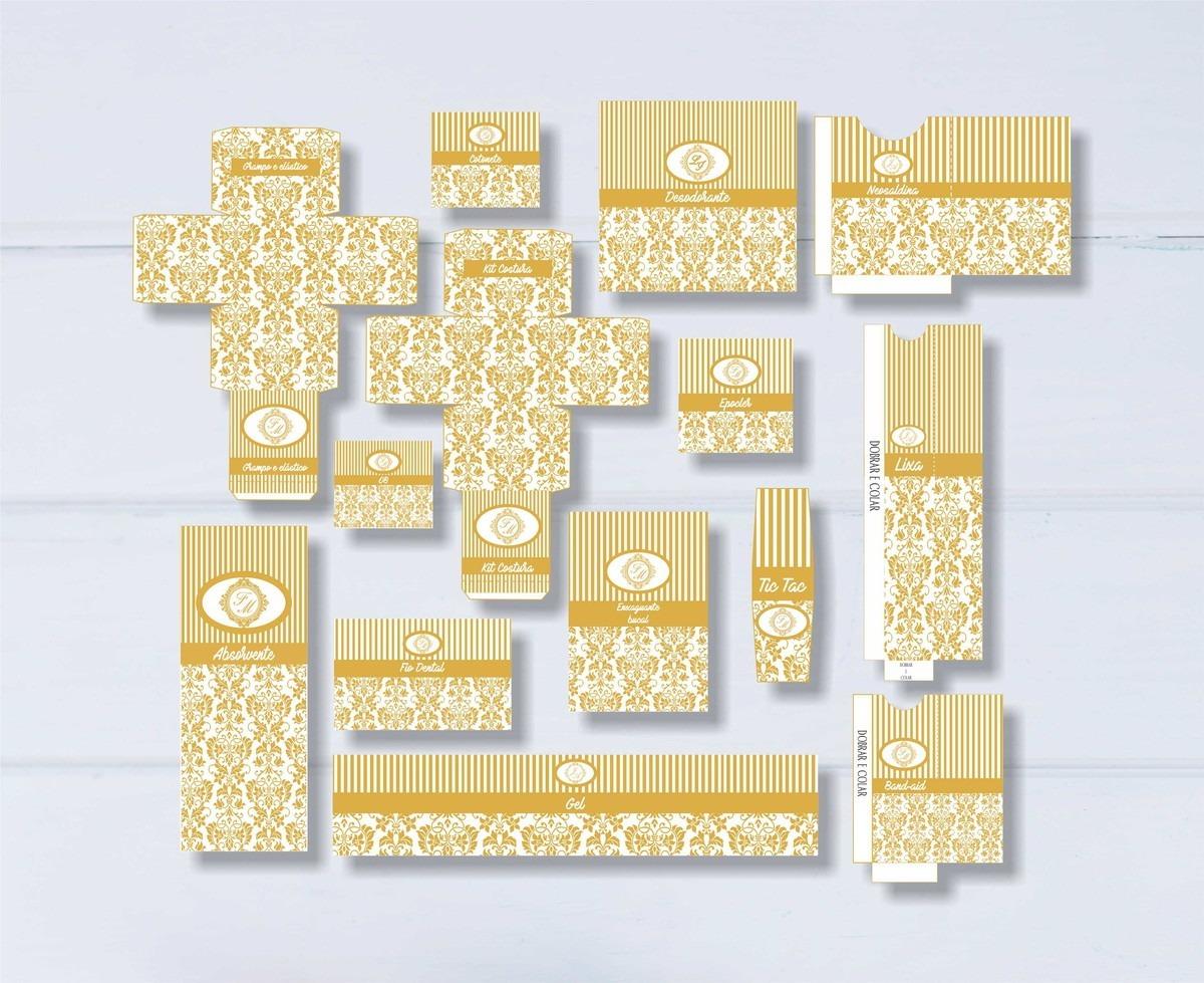 Kit Banheiro Casamento Dourado Arte Digital R 45 00 Em