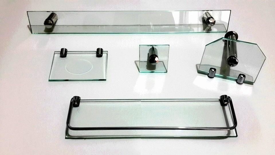 Kit Bancada Banheiro Vidro : Kit banheiro de vidro pecas frete gr?tis varias cores