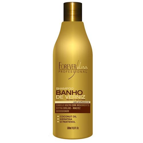 kit banho de verniz shampoo+leave-in+ queratina+ máscara 1kg
