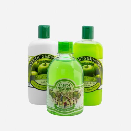 kit banho maçã verde
