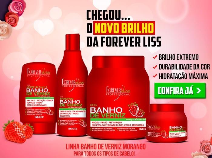1b2ac52f830a0 Kit Banho Verniz Morango 3 Passos Forever + Brinde Desmaia - R$ 149 ...