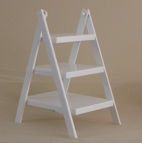 kit banquinho c/escada doce para decorar mesa de festa luxo
