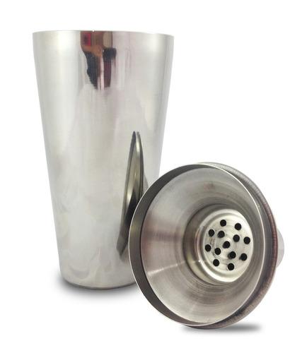 kit bar coqueteleira balde pegador jogo aço inox 500 ml copo