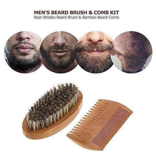 kit barba anself, cepillo cerdas jabalí + peine de bambú.