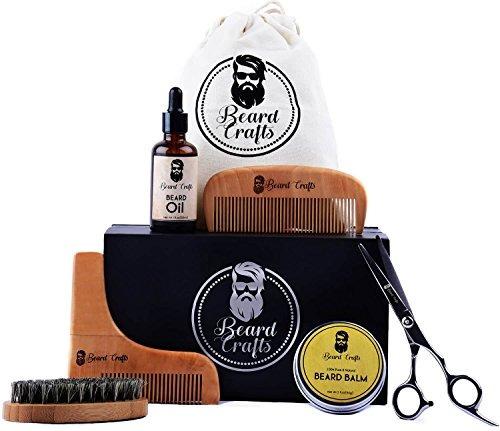 kit barba beard crafts, aceite, tijeras, cepillo, peine.
