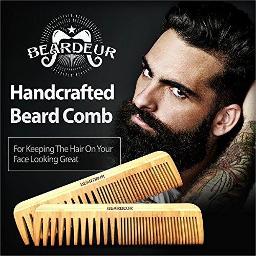 kit barba beardeur, cepillo, peine, aceite