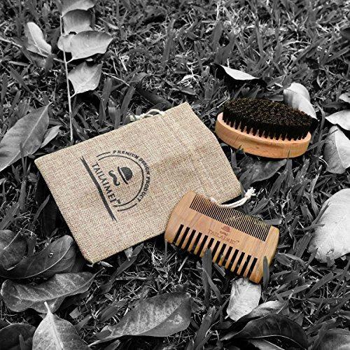 kit barba tailaimei cepillo cerdas jabalí peine madera bols