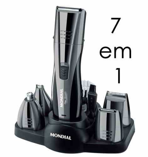 kit barbeador aparador de pelos mondial multi groom 7 em 1