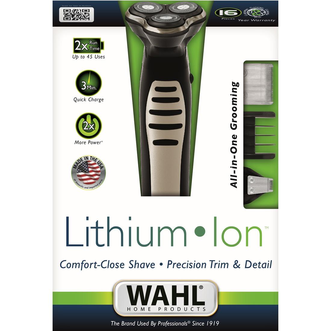 6f89a6727 Kit Barbeador E Aparador 3 Em 1 Wahl - Lithium Ion Shaver - R$ 138 ...