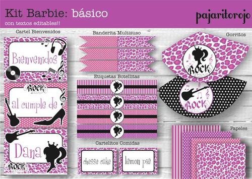 kit  barbie rock