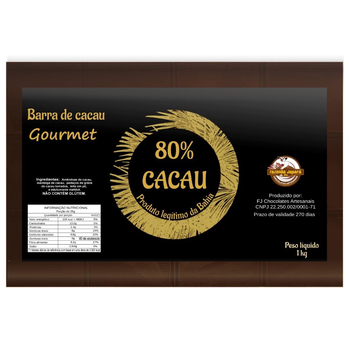 ca529bc25 Kit Barra 70% E 80% Cacau Com Nibs 1kg Sem Açúcar - R  207