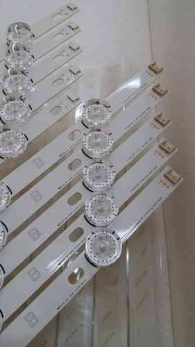 kit barra de led lg 49lf5500 49lf6200 49lf6400 kit completo