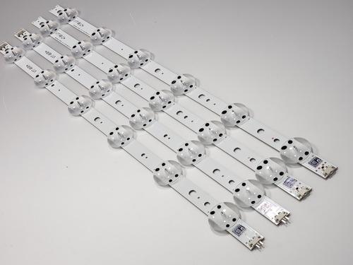 kit barra de led lg 49uj6525 49uj6545 49uj6565 49uj6585 nova