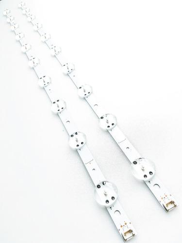 kit barra led lg 43uj6525 43uj6565 barras originais alumínio