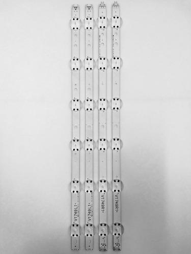 kit barra led lg 49uj6525 49uj6545 49uj6565 nova - alumínio