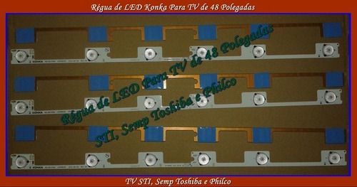 kit barra led tv 48 polegadas toshiba