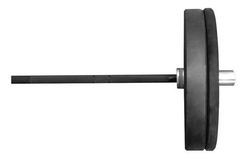 kit barra olimpica 1,70 m + 2 anilhas de 5 kg olimpica
