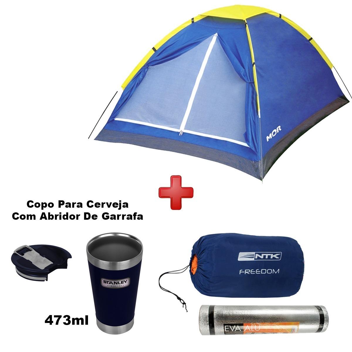 3601cfde5 kit barraca camping 2p + saco de dormir + isolante + copo. Carregando zoom.