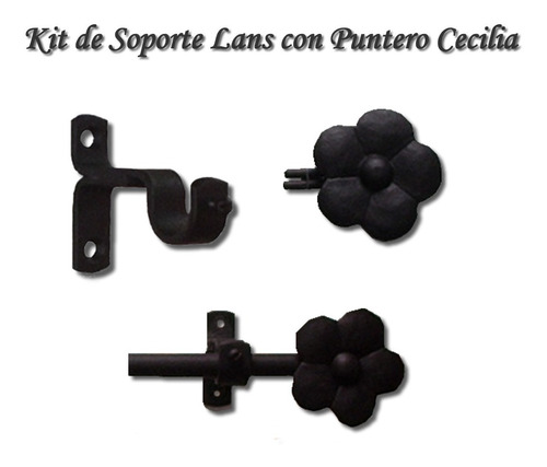 kit barral cortina 1/2(13mm) x 1,50m lans hierro forjado