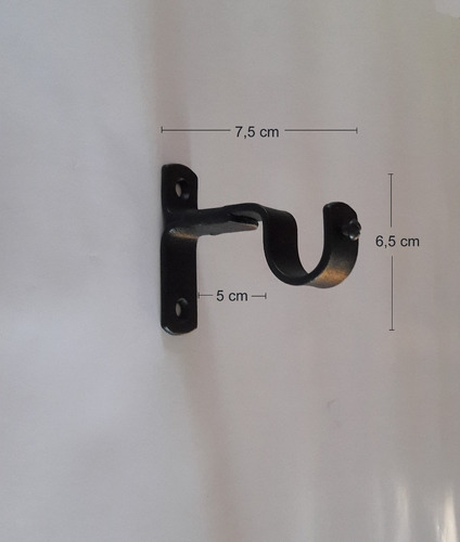 kit barral cortina 3/4(19mm) x 3,5m sop lans hierro forjado