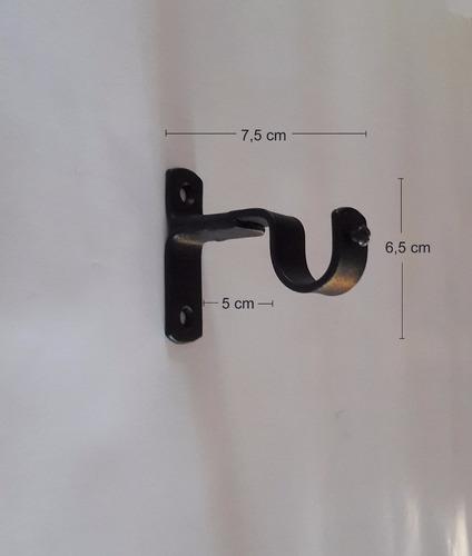 kit barral cortina 3/4(19mm) x 3m sop lans hierro forjado