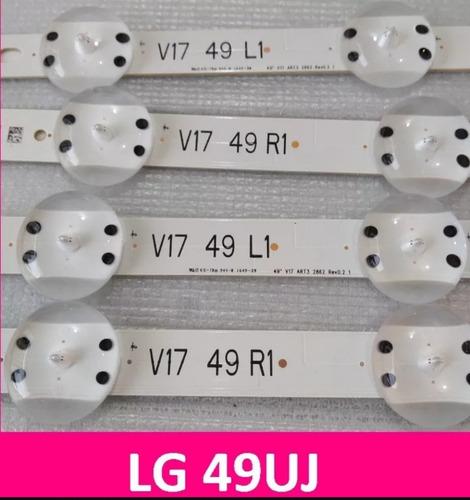 kit barras de led lg 49uj6525 49uj6565 barra nova original