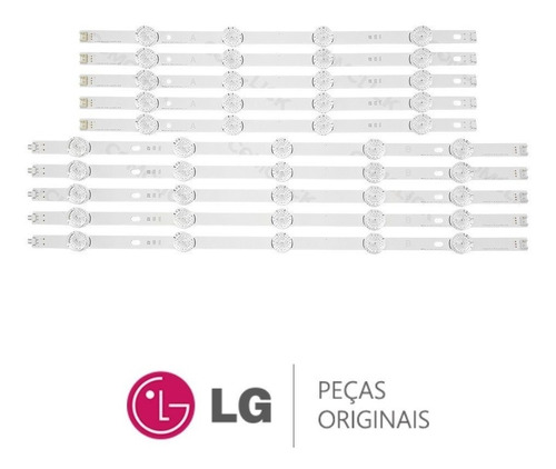 kit barras de led tv lg 49lb6200 49lb5500 original,novas.