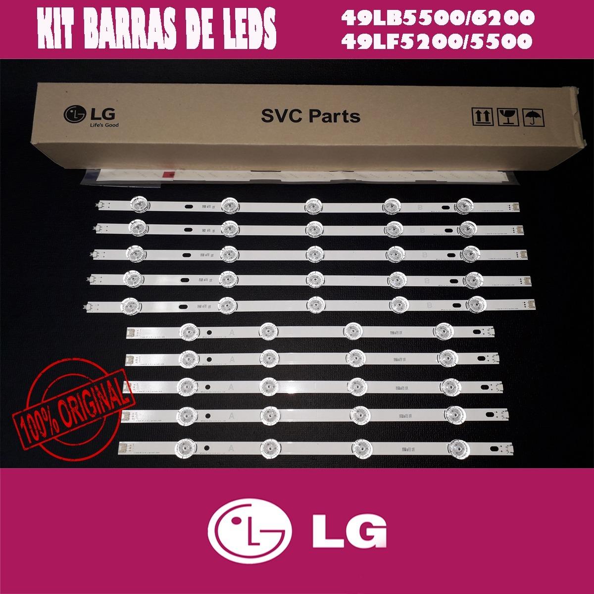 1361c8cc4 kit barras de leds tv lg 49lb6200 49lb5500 49lf5500 49lf5200. Carregando  zoom.