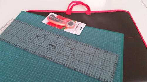 kit base 60x45 + 1 cortador 45 + 1 regua 60x15 + pasta a2