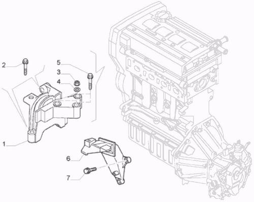 kit base motor  macha cambio fiat stilo câmbio fiat dualogic