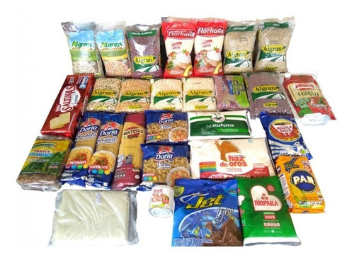 kit básico de alimentos - unidad a $120000