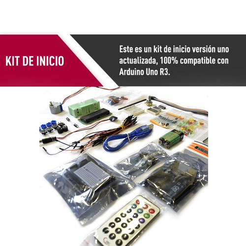 kit básico iniciación arduino uno r3 garantia + envio gratis