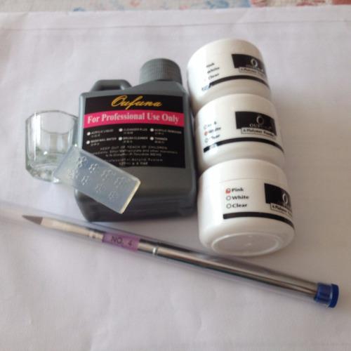 kit basico para uñas acrilicas