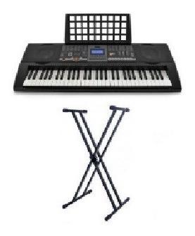 kit básico titaniux teclado + atril de teclado